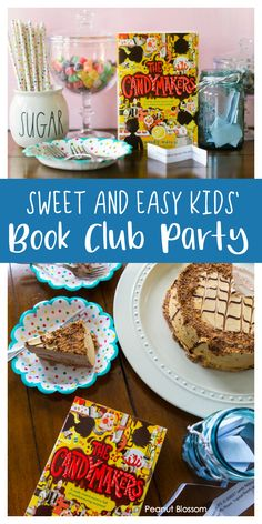 Sweet and easy children's book club party: The Candymakers by Wendy Mass, includes the perfect discussion questions and an easy party menu featuring a delicious Reese's Peanut Butter ice cream cake. Book Club Food, Kids Book Club, Best Books List, Good Books, Book Lists, Best Children Books, Childrens Books, Book Club Parties, Peanut Blossoms