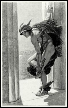 jsarevisited: do-not-open-til-christmas: oldbookillustrations: 1886 William Blake Richmond (English Painter, ~ Hermes; [after his painting and via The Magazine of Art, Vol. Art Du Temps, Greek Gods And Goddesses, Greek And Roman Mythology, William Blake, Greek Art, Classical Art, Old Master, Renaissance Art, Ancient Greece