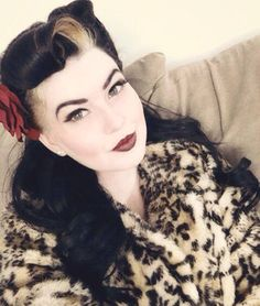Blonde and Black Rockabilly Hair