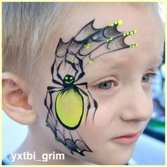 design boys will love! Check out this amazing artists design boys will love! Check out this amazing artists Spider Face Painting, Face Painting Halloween Kids, Face Painting For Boys, Face Painting Tutorials, Face Painting Designs, Paint Designs, Halloween Eye Makeup, Theme Halloween, Halloween Face