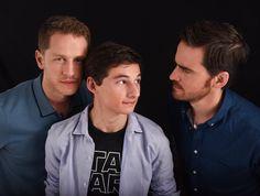 Josh Dallas, Jared Gilmore and Colin O'Donoghue at San Diego Comic Con Photoshoot 2016 - 23 July 2016