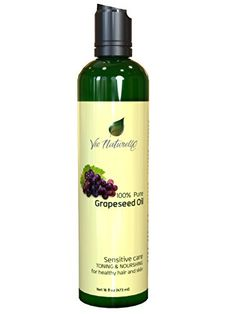 Grapeseed Oil for Hair, Cooking, & Skin - 100 % Pure Hexane Free - No Fillers, Dyes or Artificial Ingredients of Any Kind - 16 Fl Oz by Vie Naturelle -- Awesome products selected by Anna Churchill Gourmet Recipes, Baking Recipes, Baking Desserts, Cook Skins, Vinegar Salad Dressing, Benzoyl Peroxide, Baking Supplies, Tea Tree Oil, Hair Oil