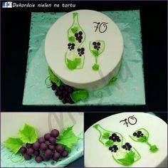 Bottle and glass of wine cake Bottle Cake, Birthday Cake, Desserts, Food, Wine, Facebook, Glass, Design, Tailgate Desserts