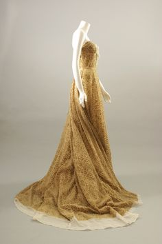 ROCHAS by Olivier Theyskens, Cut velvet and chiffon bustier evening gown, A/W 2005-06