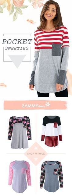 Long sleeves - Long Sleeve Tops, T Shirts, Blouses Cheap Online Sale Sewing Dress, Sewing Clothes, Look Fashion, Diy Fashion, Womens Fashion, Sammy Dress, Diy Clothing, Mode Inspiration, Refashion