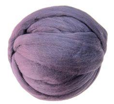 Destash Merino wool roving 21 microns,  2oz (56g) Color: Plum