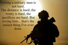 Loving a military man...