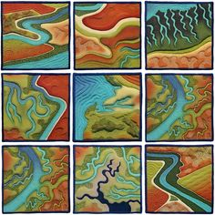 Transformations Series by Linda Gass, 5.5  x 5.5 inches each
