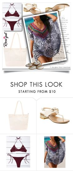 """""""Rosegal 52"""" by fashion-with-lela ❤ liked on Polyvore featuring Summer, beach, swimwear, Trendy and kaftan"""