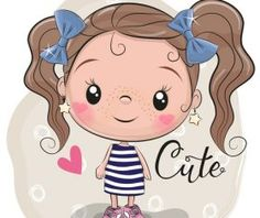 Cute cartoon girl vector stuff 3 - Cute cartoon girl vector stuff 3 You are in the right place about cartoon flower Here we offer you - Girl Cartoon Characters, Cute Cartoon Girl, Cartoon Girl Drawing, Cartoon Drawings, Art Drawings For Kids, Easy Drawings, Art For Kids, Illustration Girl, Girl Illustrations