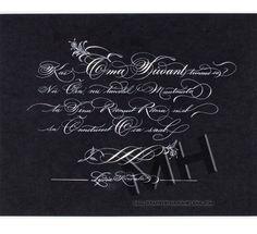 Maria Helena, New Orleans Calligraphy Art