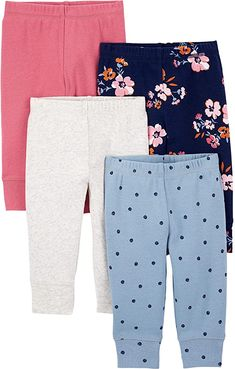 Amazon.com: Simple Joys by Carter's Baby Girls' 4-Pack Cotton Pants, Floral/Pink/Blue, 6-9 Months: Clothing, Shoes & Jewelry Baby Girl Pants, Carters Baby Girl, Girls 4, Baby Girls, Cotton Pants, Pink Blue, Bermuda Shorts, Amazon, Simple