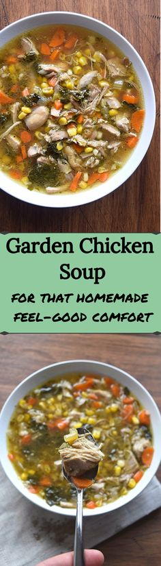 Getting tired of the same old chicken soup? Mix it up and try garden chicken soup. You still get that same old comfort food but with a little jazz in it's step.