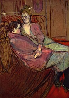 Henri de Toulouse-Lautrec, The Two Friends (1894) on ArtStack #henri-de-toulouse-lautrec #art