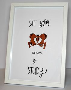 Study motivation print College Student Gift by MedPapers