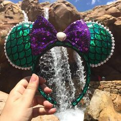 Wouldn't you think my collection's complete?  #disney #ears #mermaid #mickey #wdw #diy #handmade #ariel #littlemermaid  #minnie Diy Disney Ears, Disney Mickey Ears, Disney Bows, Disney Diy, Disney Dream, Disney Style, Mickey Ears Diy, Disney Shirts, Disney Dress Up