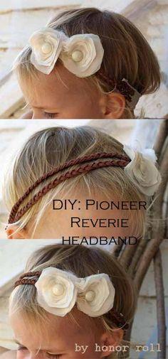 Ruffles and Roses: headband