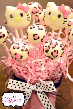 Hello Kitty cake pops  www.facebook.com/cakepoppin