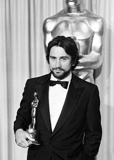 Robert De Niro receiving the Best Actor Oscar for Raging Bull