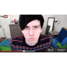 Phil Lester ❤ liked on Polyvore featuring youtube, boys, dan and phil, - youtubers and guy