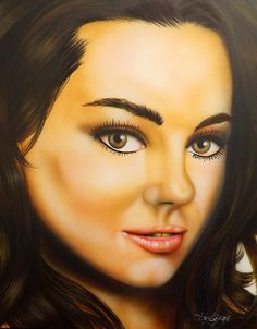 Mila Kunis painting from PaintingsByDarren