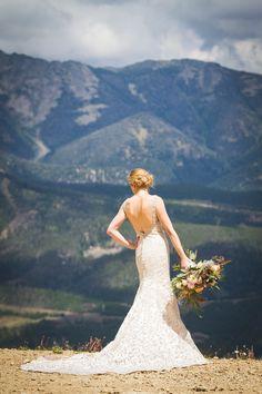 Montana Bride / Dress: Allure Bridals / Eye in the Sky Photography / Big Sky Resort / Flowers: Katalin Green