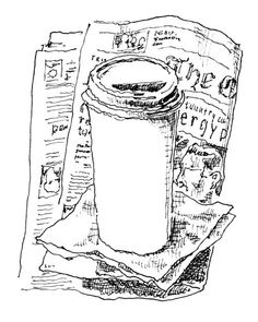 Morning - coffee - newspaper