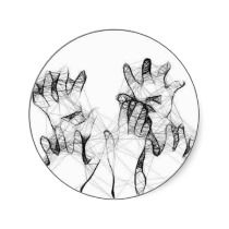 Cobweb Hands stickers by thedustyphoenix