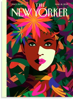 """Malika Favre has created a cover for The New Yorker's spring style issue, inspired by Frida Kahlo's colourful wardrobe and """"iconic look"""". The New Yorker, New Yorker Mode, New Yorker Covers, Art And Illustration, Portrait Illustration, Capas New Yorker, Magazin Design, Posca Art, Bohemian Mode"""