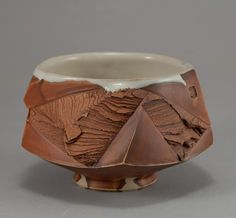 "New Chawan ""Discovery"" by Mikhail Tovstous. The link to our Etsy shop is in the Bio. Wheel thrown, faceted, glazed and wood fired at…"