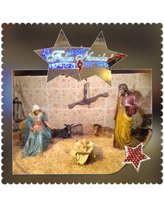 Montaje fotográfico con motivos de Navidad | Panderetas.es