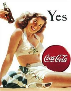 Coca-Cola and an old-fashioned bathing suit scream 'Summer!' Yes
