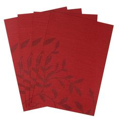 Flower Pattern Placemats for Dining Table