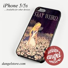 alice in wonderland stay weird Phone case for iPhone 4/4s/5/5c/5s/6/6 plus