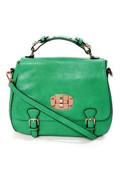 Panache and Carry Green Handbag by Urban Expressions at Lulus.com