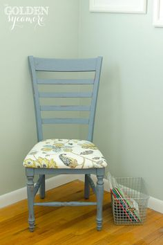 The Golden Sycamore: Hand Painted Ladder Back Chair