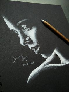 Song Yong - #softpastel #pencil #daily #portrait #doodle #drawing #sketch #traditionalart #positive #negative