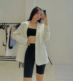 Basic Outfits, Korean Outfits, Mode Outfits, Cute Casual Outfits, Girls Fashion Clothes, Teen Fashion Outfits, Girl Outfits, Korean Girl Fashion, Look Fashion