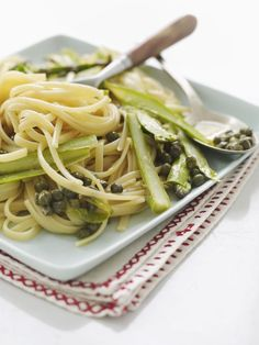 Sweet Paul's Pasta with Asparagus, Lemon & Capers