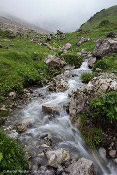 Stream on the hiking trail Mountain Landscape, Hiking Trails, Lakes, Waterfall, River, Explore, Outdoor, Outdoors, Waterfalls