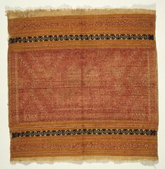 Ceremonial Textile (Tampan) Indonesia, South Sumatra, Lampung, Pasisir people, late 19th century