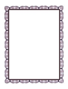 This magenta lace border looks like fine engraving in shades of magenta. The lacy look is very fine and delicate, like webbing. Free to download and print.