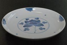 【福珠窯】染付牡丹5.5寸皿