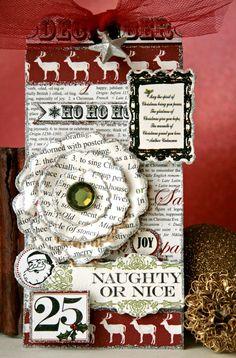 TERESA COLLINS DESIGN TEAM: Christmas home Glitter tag by Cheri