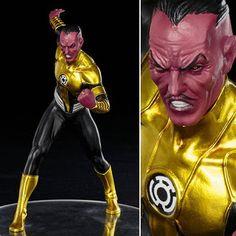 the DC COMICS SINESTRO NEW 52 ARTFX STATUE #collectibles #figurines #Collectors New 52, Dc Comics Art, Comic Art, Joker, Statue, Superhero, Green, Fictional Characters, Collection