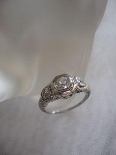 1935 Diamond Engagement Ring...Beautiful.