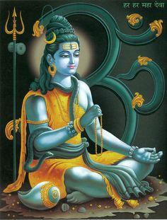 Shiva with Nandi (Reprint on Paper - Unframed)