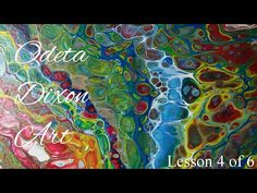 Dirty Pour. Acrylic Pouring Using Elmer's Glue, Acrylic Paints and Silicone - YouTube