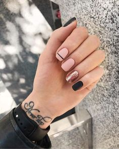 40 trendy stunning manicure ideas for short acrylic nails design 25 - . 40 trendy stunning manicure ideas for short acrylic nails design 25 - Black Nail Designs, Acrylic Nail Designs, Nail Art Designs, Nails Design, Shellac Nail Designs, Classy Nail Designs, Pink Manicure, Diy Nails, Manicure Ideas