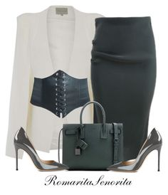 """""""Chic"""" by romaritasenorita ❤ liked on Polyvore featuring Topshop, Lanvin, Yves Saint Laurent and Gianvito Rossi"""